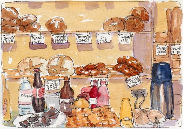 709x500 Cafe Sketch Jana Bouc, Artist