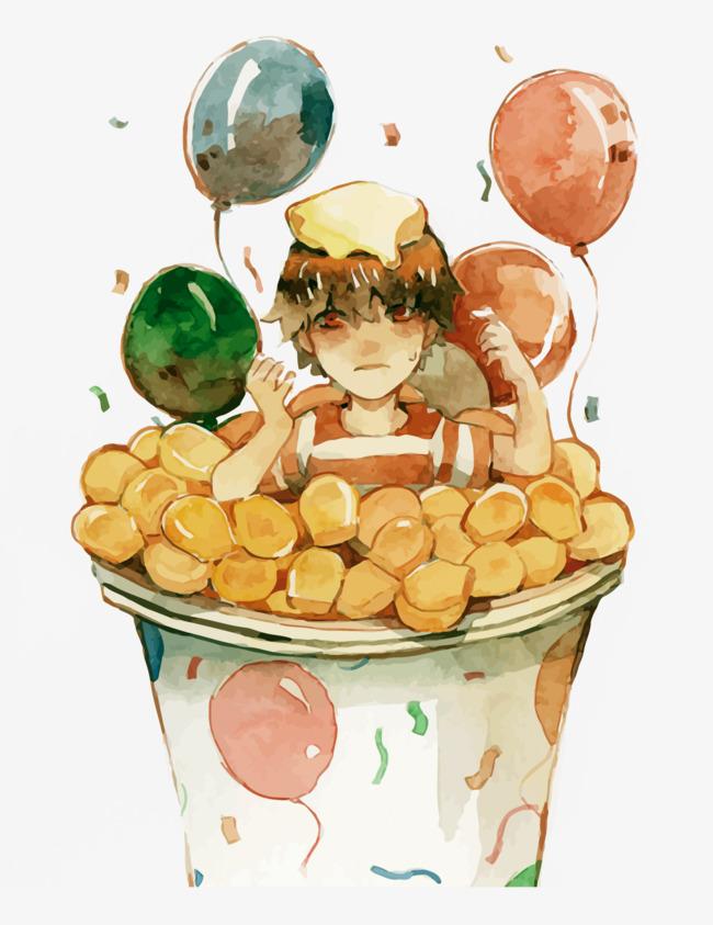 650x843 Vector Snacks And Boys, Balloon, Watercolor, Boy Png And Vector