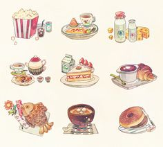 236x212 Watercolor Illustrations By Holly Exley. Cheese Art