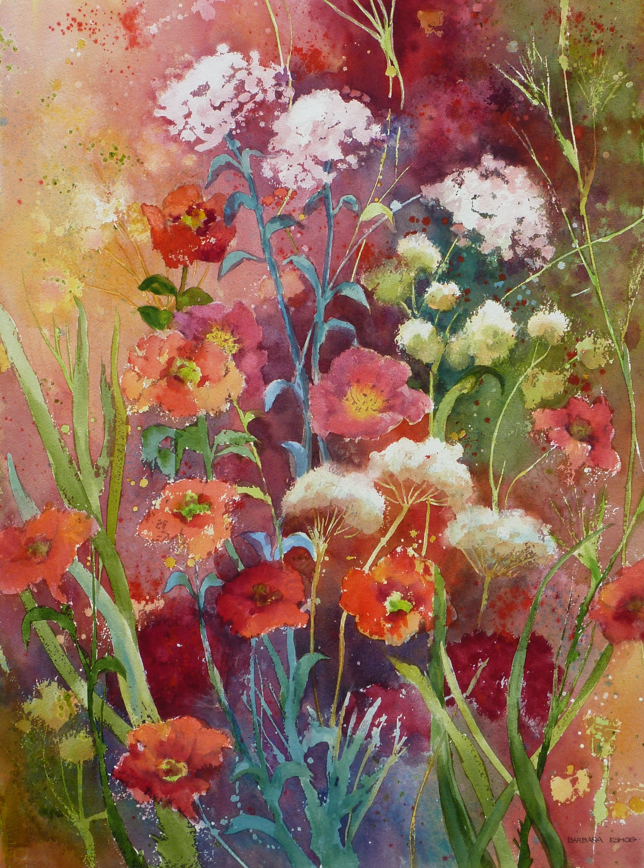 2259x3044 Wayside Trails And Gardens Watercolor Paintings By Barbara Eshoo