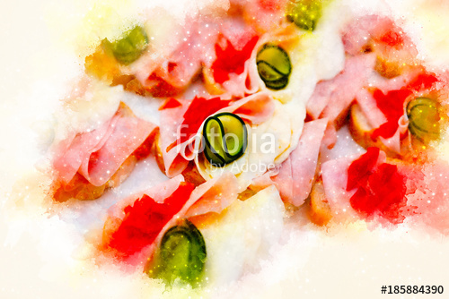 500x334 Food Snacks And Appetizers With Sandwich And Softly Blurred