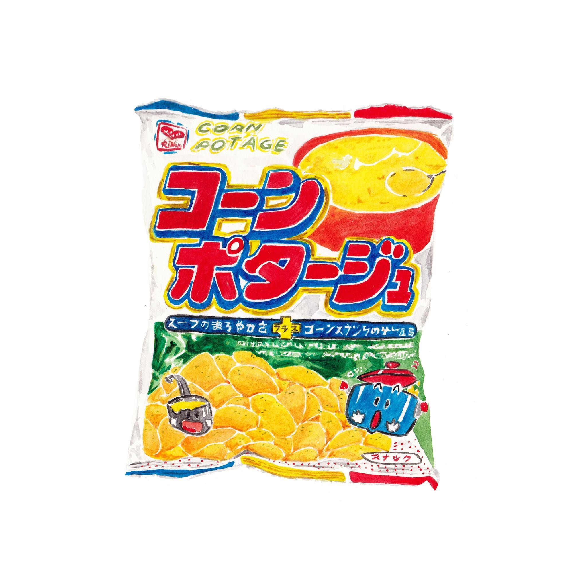 2031x2031 Japan Snack Watercolor My Illustrations