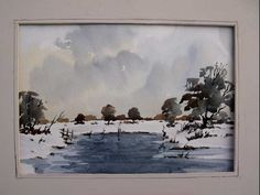 Watercolor Snow Scene