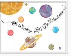 Watercolor Solar System