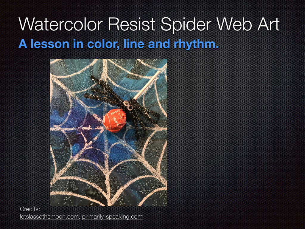 Watercolor Spider Web