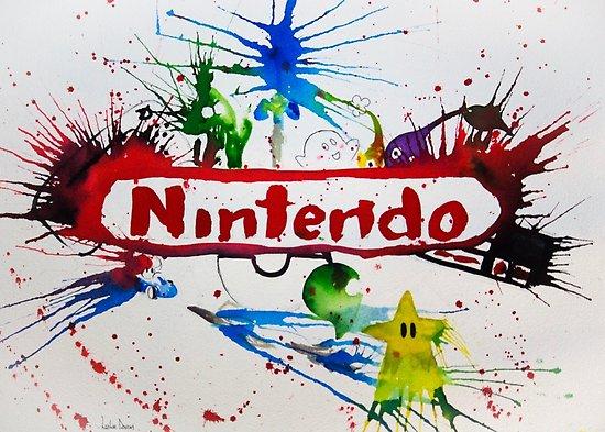 550x393 Nintendo Watercolor Splash Art Posters By Thesleepypig Redbubble