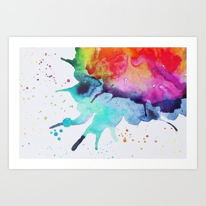 700x700 Rainbow Chakra Watercolor Splash Art Print By Erinmorris Society6