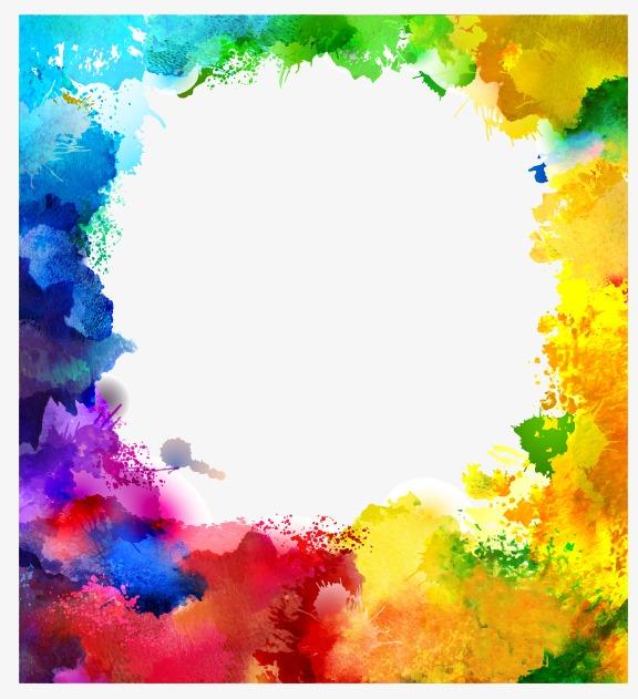 576x631 Splash Watercolor, Multicolor Background Note, Splash Vector Png