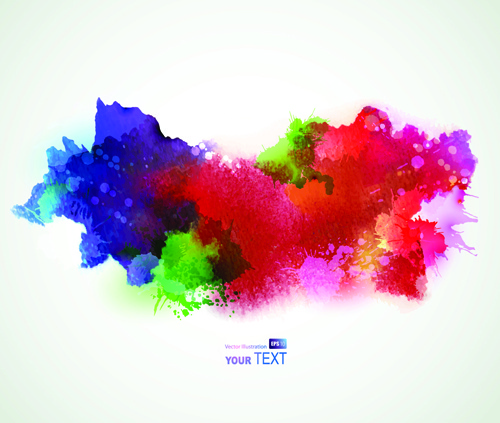 500x423 Splash Watercolor Stains Background Vector Free Vector In