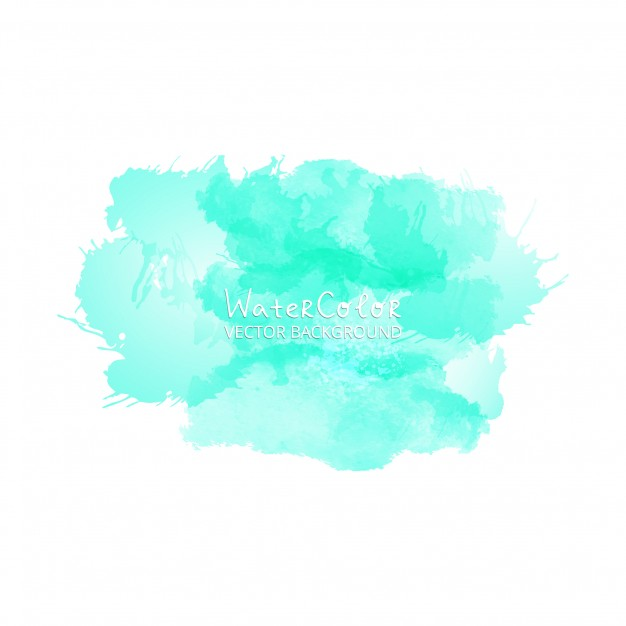 626x626 Turquoise Watercolor Splash Background Vector Free Download