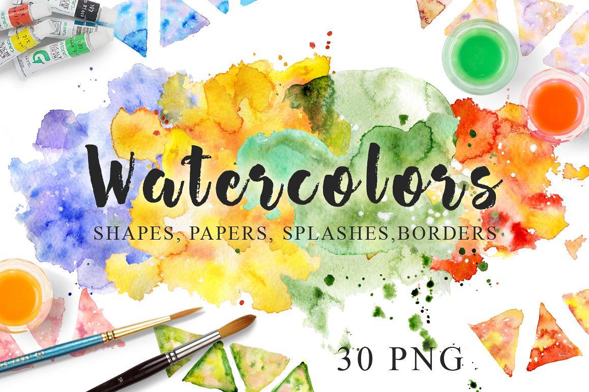 1158x772 Watercolor Texture Clipart Watercolor B Design Bundles