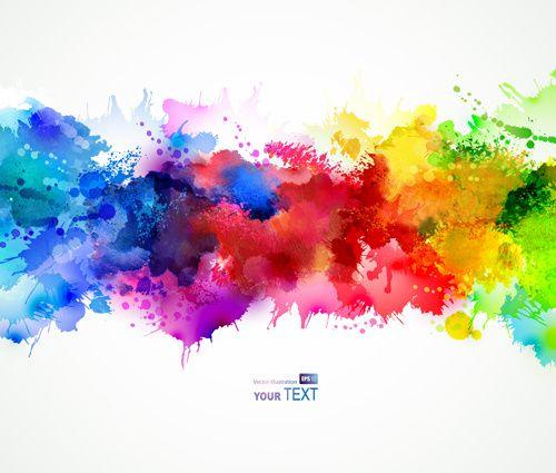 500x425 Multicolor Watercolor Splash Background Illustration Vector