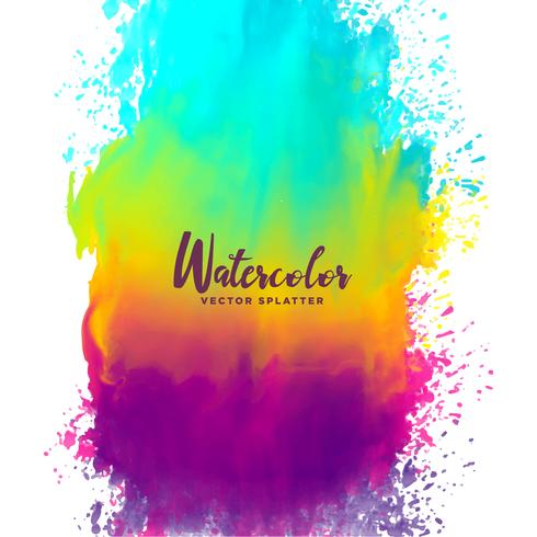 490x490 Rainbow Color Watercolor Splash Stain Background