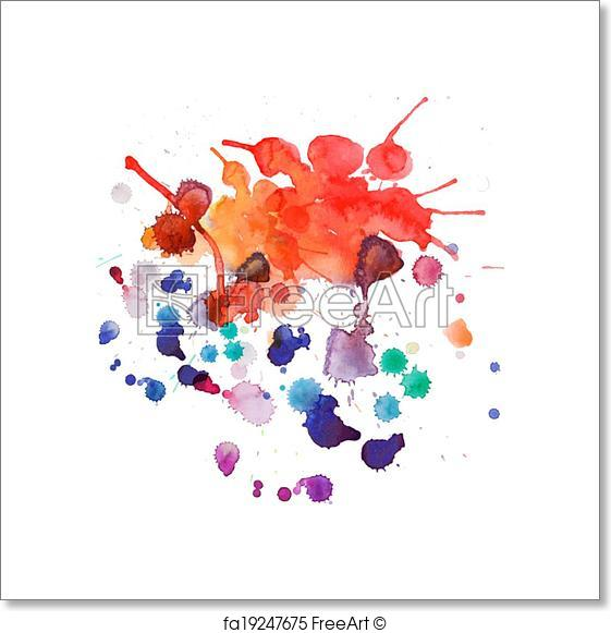 561x581 Free Art Print Of Spray Paint, Watercolor Splash Background