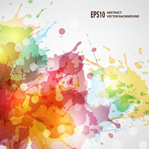 500x500 Splash Watercolor Blots Abstract Background Vector 01 Free Download