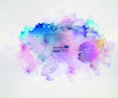 500x418 Splash Watercolor Stains Background Vector Free Vector In