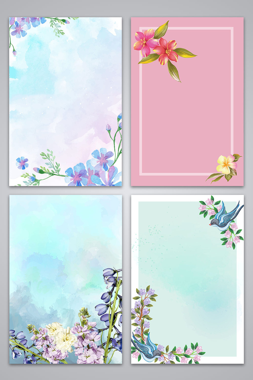 1024x1540 Vector Watercolor Splash Spring Spring Floral Background Free