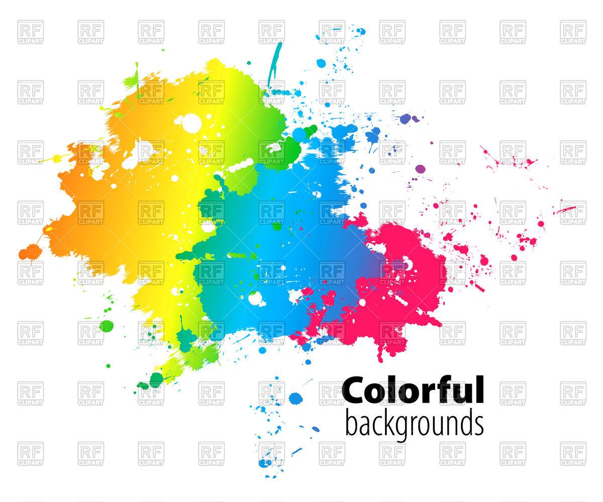 1200x1000 Abstract Colorful Watercolor Splash Vector Image Vector Artwork
