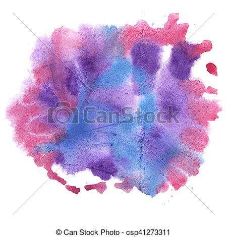 450x470 Abstract Watercolor Splash. Watercolor Drop Isolated Blue Pink