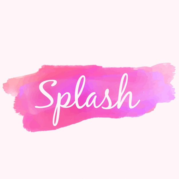 626x626 Watercolor Paint Splash In Pink Color Vector Free Download