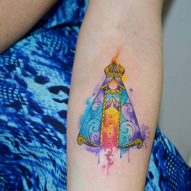 Watercolor Splash Tattoo