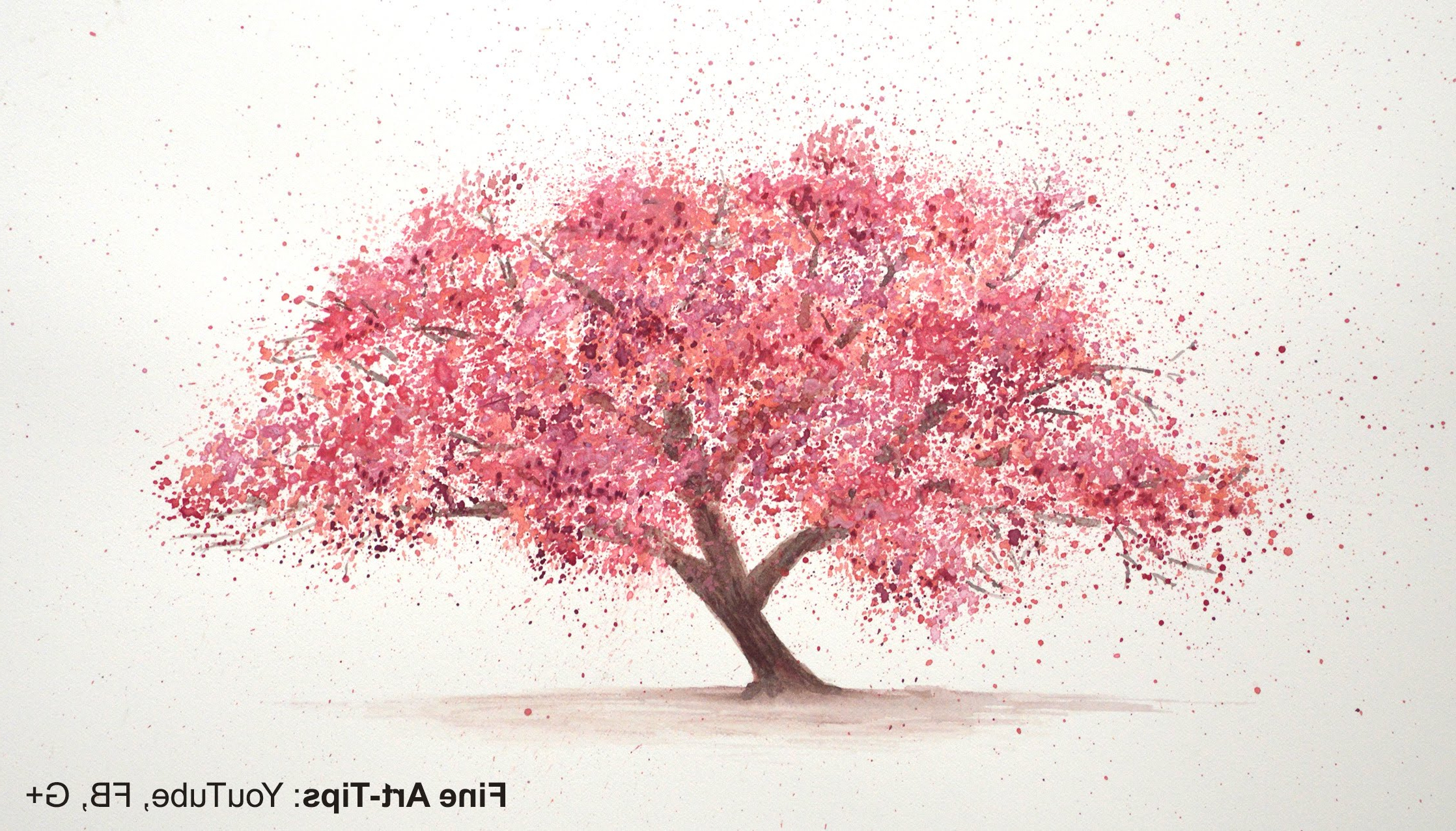 2236x1276 Paintings Of Cherry Blossom Trees How To Paint A Cherry Tree In
