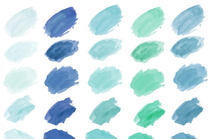 720x479 Watercolor Clip Art, Watercolor Splotches, Watercolor Strokes By