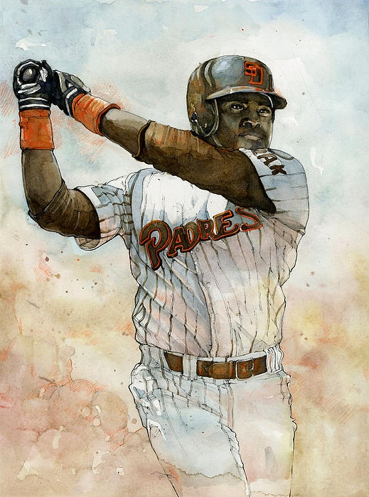 Watercolor Sports Paintings