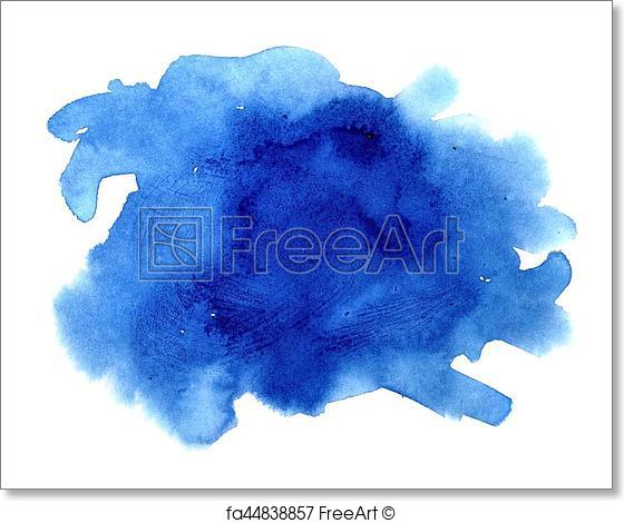 560x470 Free Art Print Of Dark Blue Watercolor Stain. Dark Blue Watercolor