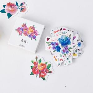 300x300 Blooming Flowers Watercolor Stickers