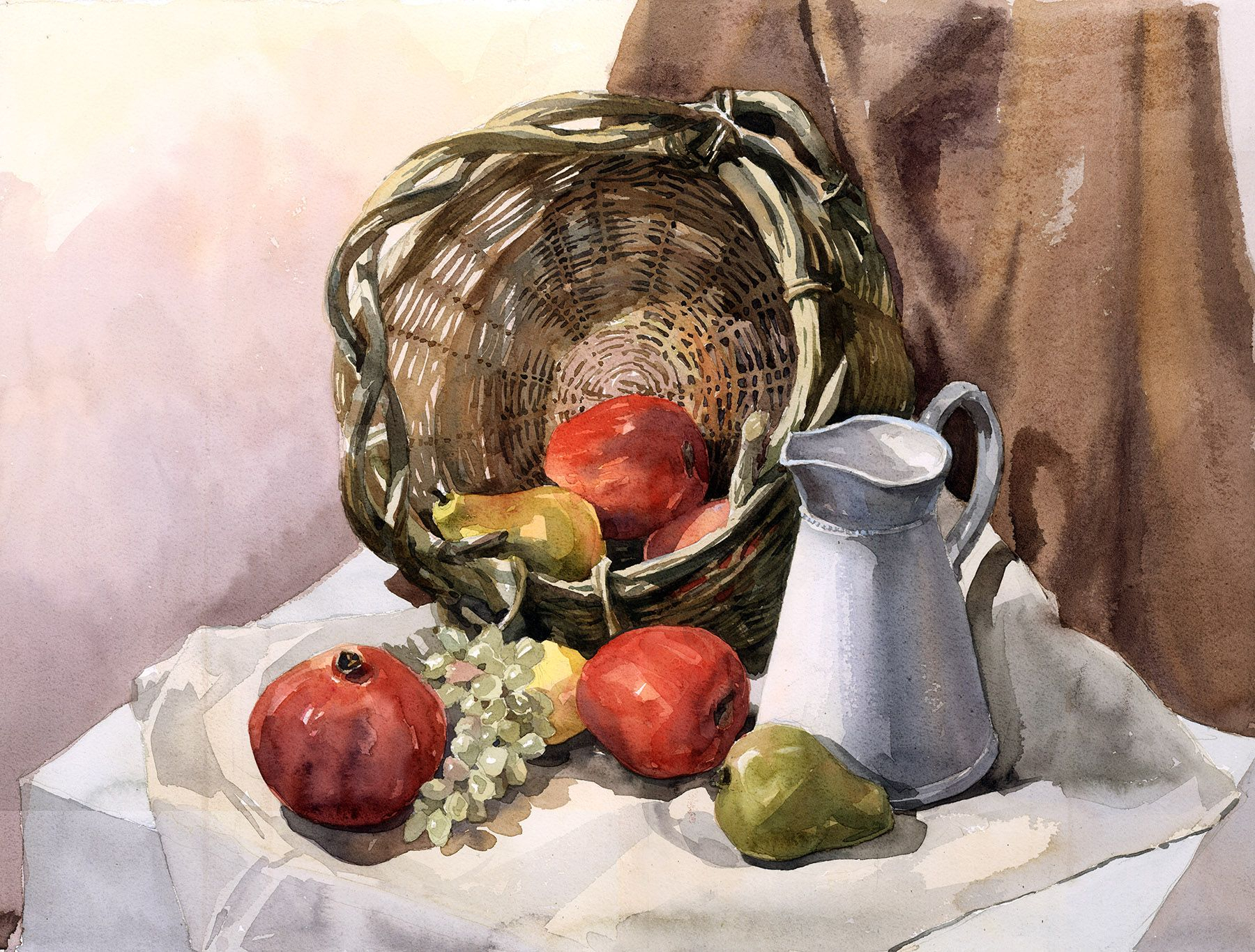 1800x1366 Watercolor Painting Still Life Watercolor Painting Still Life