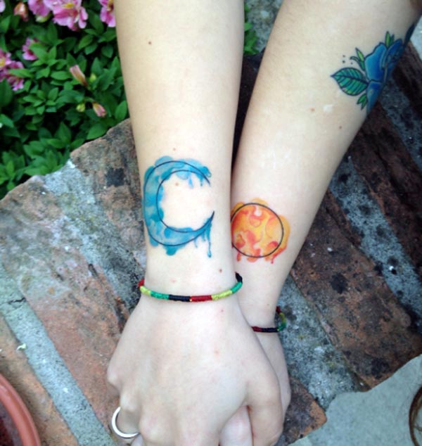 2d0f56453 Watercolor Sun Tattoo at GetDrawings.com | Free for personal use ...