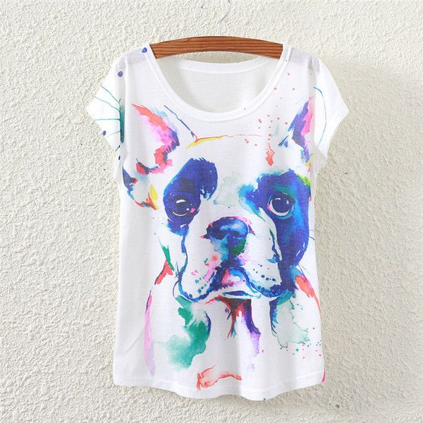 600x600 French Bulldog Watercolor T Shirt Wardrobe French