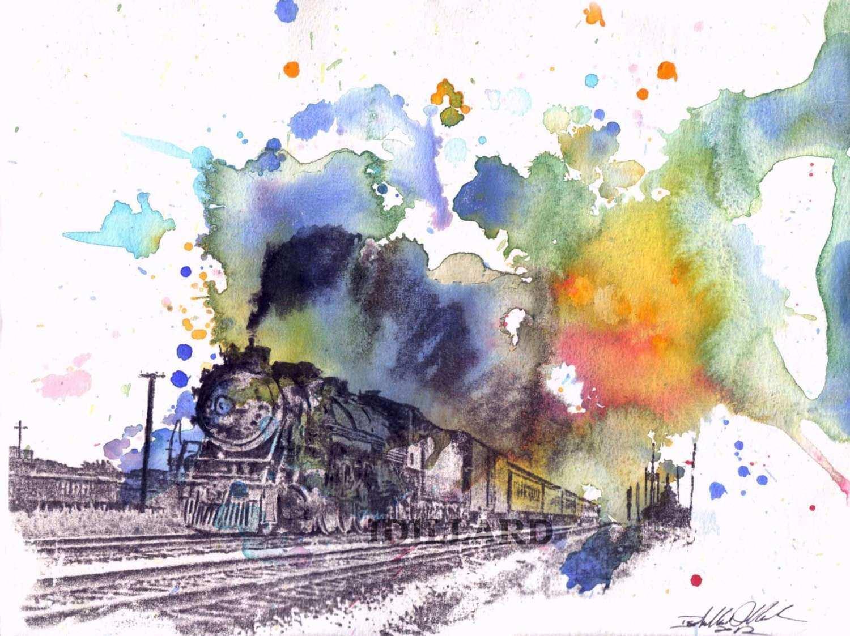 Watercolor Train