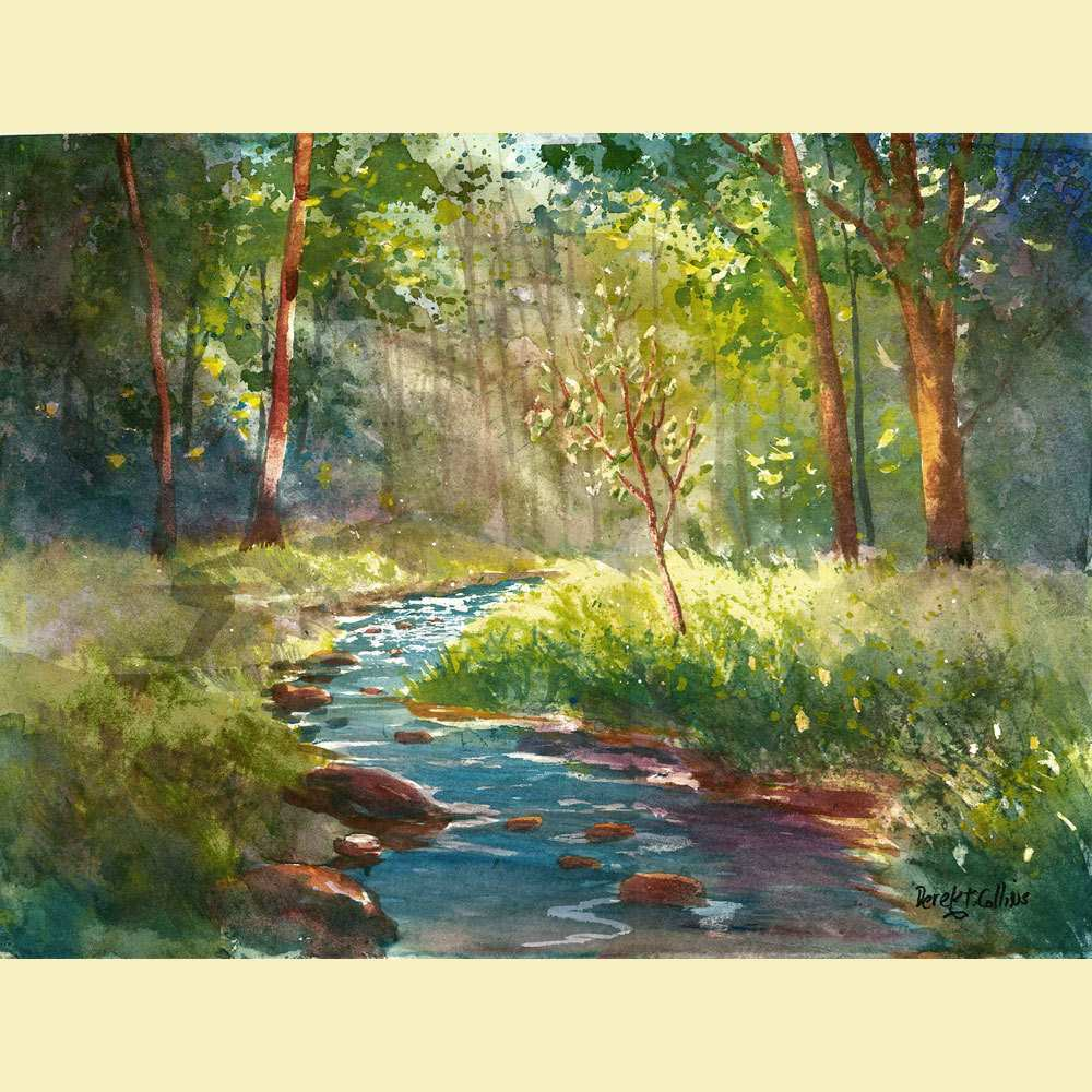 1000x1000 Water Painting On Canvas Beautiful Watercolor Landscape Painting