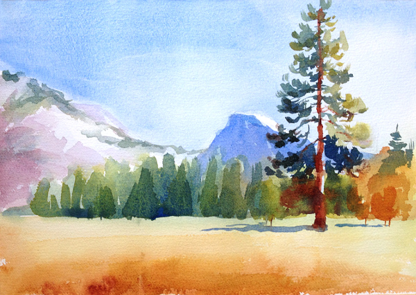 600x426 Watercolor Landscape Painting 5 Step Tutorial