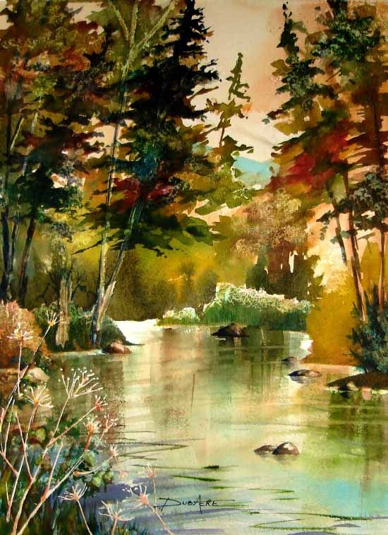 550x757 Watercolor Landscape Paintings Tree