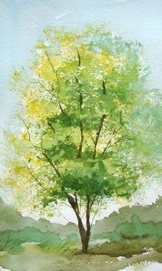 236x393 Watercolor Trees