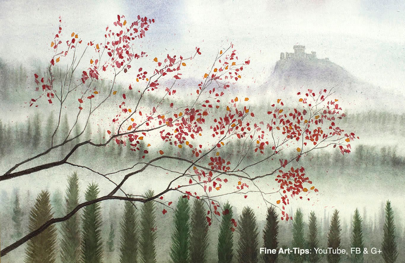 1366x886 How To Paint A Landscape In Watercolor