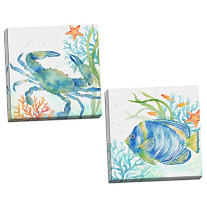 425x425 Roaring Brook Lovely Watercolor Style Tropical Fish