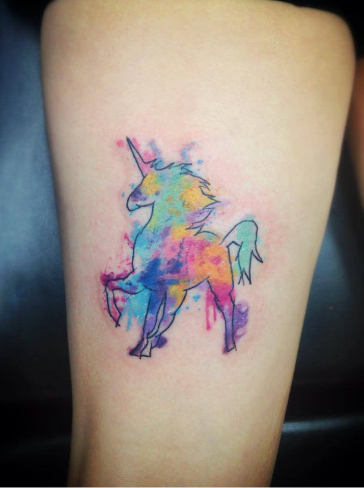 Watercolor Unicorn Tattoo At Getdrawings Com Free For Personal Use