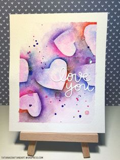 Watercolor Valentine Cards