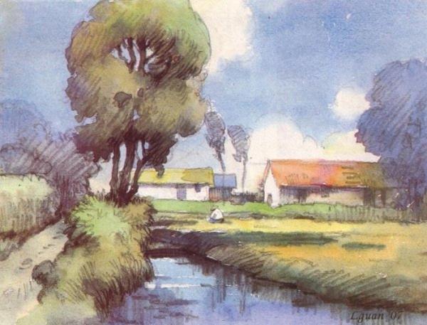 Watercolor Village