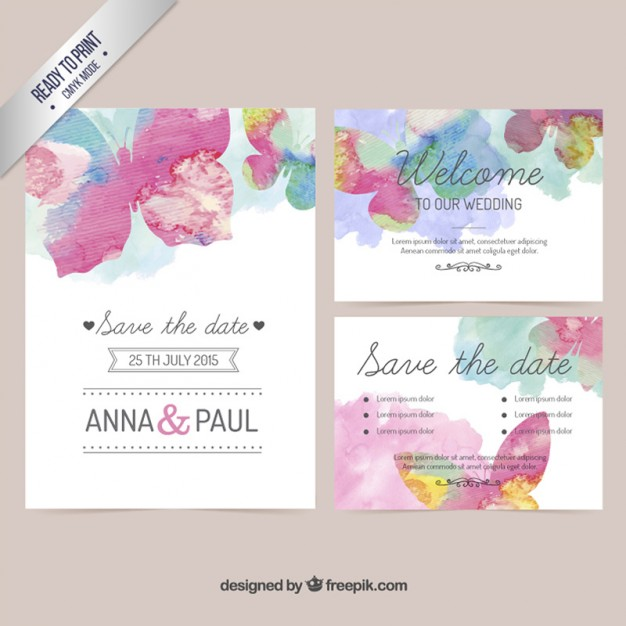 Watercolor Wedding Invitation Templates At GetDrawings
