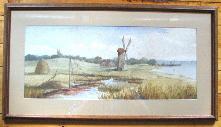 Watercolor Windmill