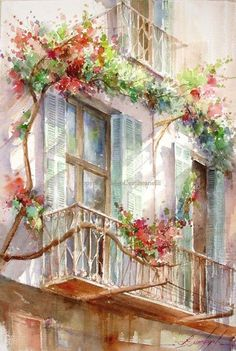 Watercolor Window