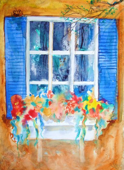 407x560 How To Do A Watercolor Of A Window Box (With Pictures)