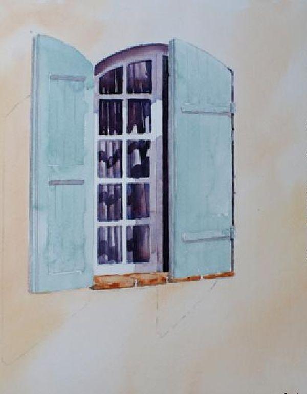 600x770 How To Paint Windows In Watercolour Arttutor