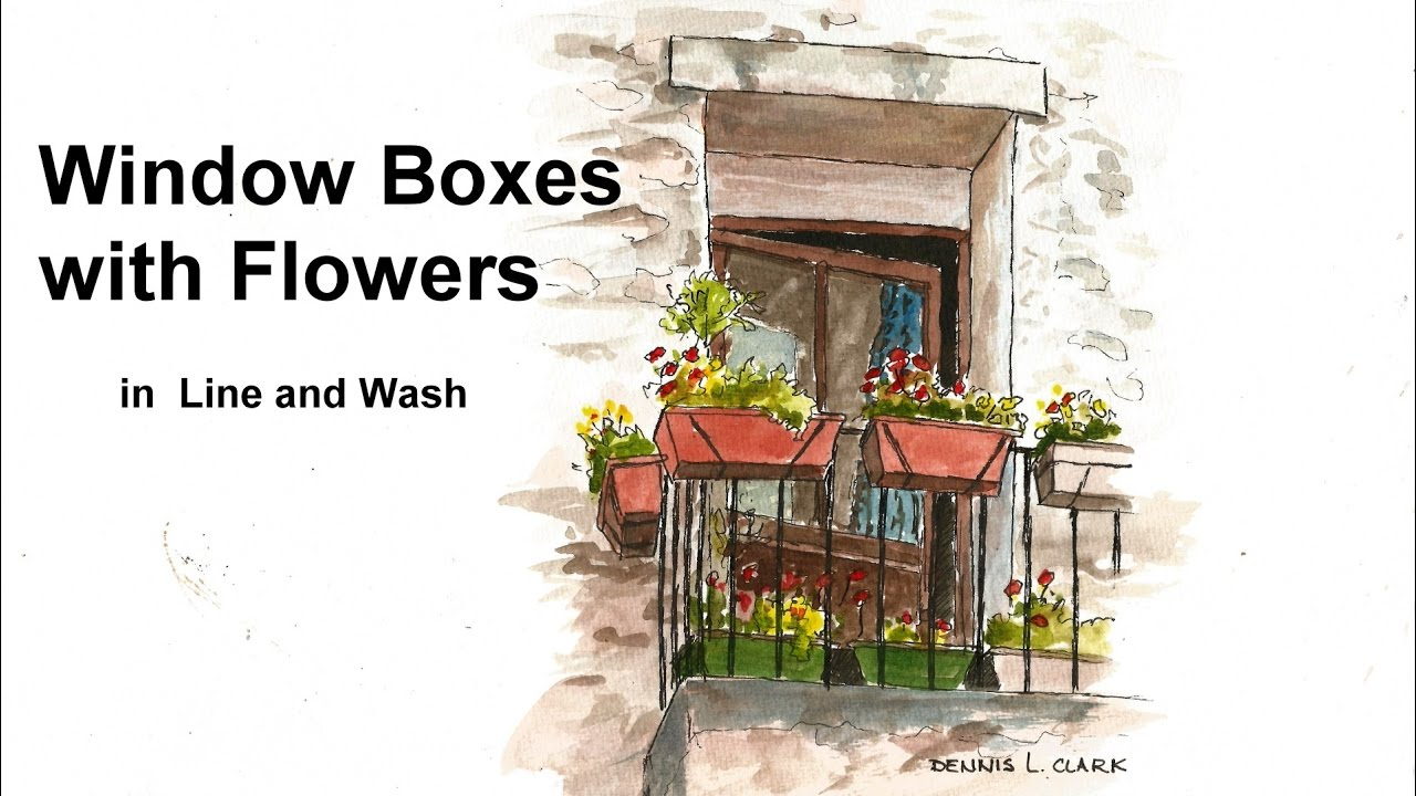 1280x720 Line And Wash Watercolor Painting Tutorial