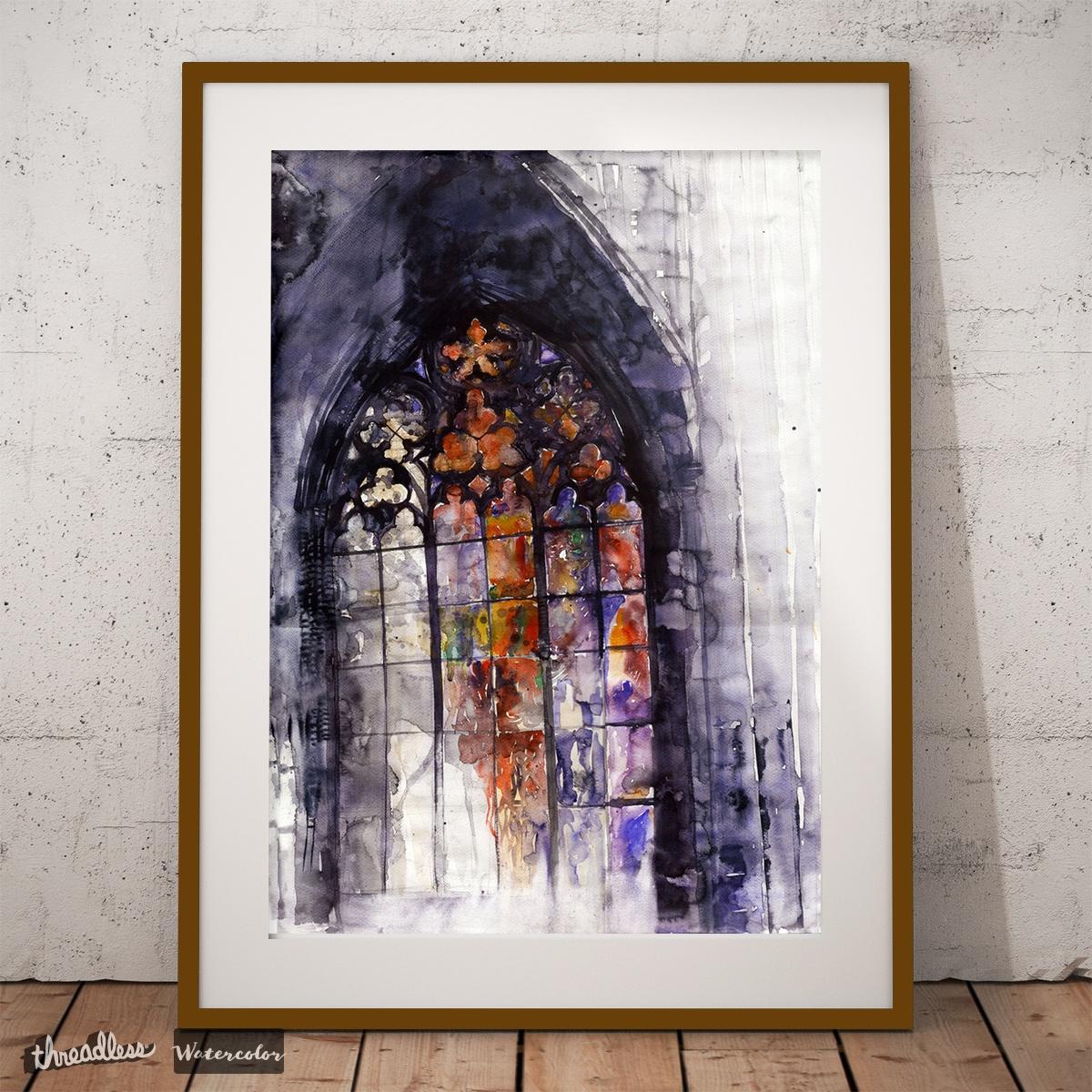 1200x1200 Score Watercolor Stained Glass Window By Majawronska On Threadless